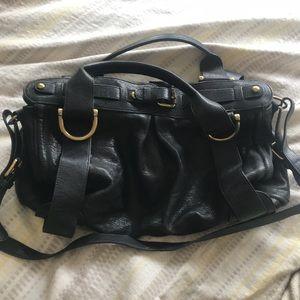 Kooba Charlie black leather satchel